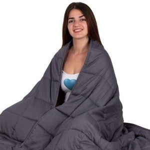 NEW Ebung 15 pound LB weighted gray blanket